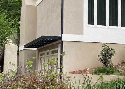 residential stucco awning
