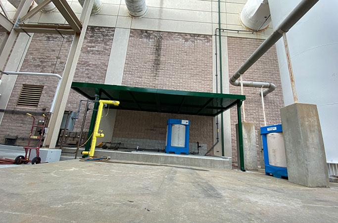 green metal awning factory